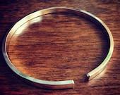 Open Cuff Bangle Bracelet - Rectangular