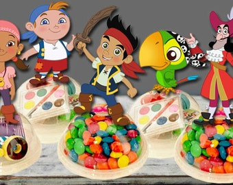 Jake and the Neverland Pirates Party Favors Candy Containers