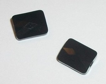 Swarovski crystal beads mini rectangle style 5055 -- Jet black -- 2 pcs per lot - Available in 8x6mm and 10x8mm