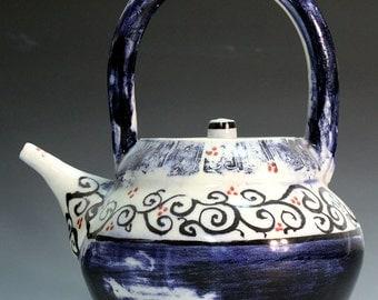 Hand made teapots, porcelain teapots, tea service, porcelain teapots
