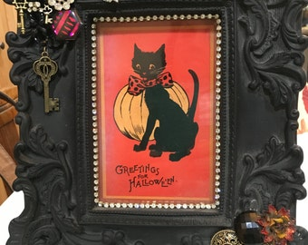 Items Similar To Boo Halloween Frame 5x5 Wooden Frame