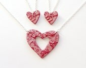 Mother and 2 Daughters Matching Necklaces in Scarlett Red