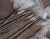 SALE SALE SALE Vintage Crochet Needles Destash Lot Set 14 Doilies Doily Crocheting Lace Supplies Stainless Steel Size 00 0  1 2 4 5 6 7 9 10