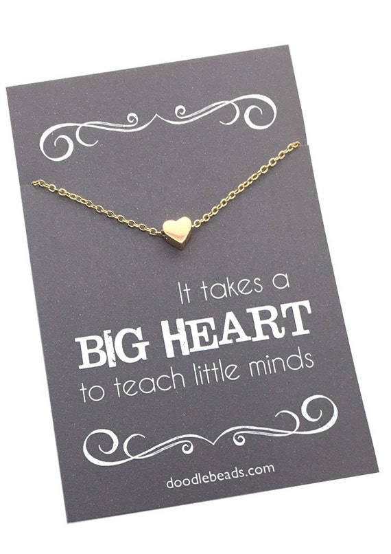 Sweet teacher necklace
