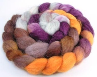 Spinning Fiber - Baby Alpaca Combed Top / Roving 4 oz - Autumn Gold