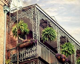 "New Orleans Art Photography. French Quarter ""Pretty NOLA"" Picture. Louisiana balcony, Architecture, 8x10, 11x14, 16x20, 20x24, 24x30, 24x36"