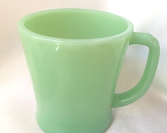 Vintage Fire King Jadeite D handled mug