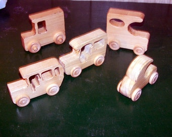 Hand Made Wooden Cars