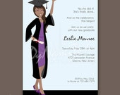 Ms Graduate - Graduation Party Invitation - African American