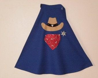 Child's Cowboy Cape Western Cape Costume