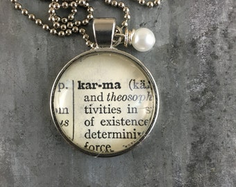 Dictionary Word Necklace - Karma