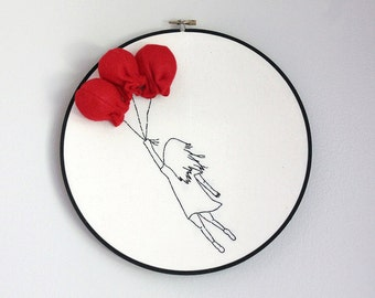 Illustrated Dreams Embroidered Picture