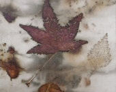 Small Autumn Leaves on silk I