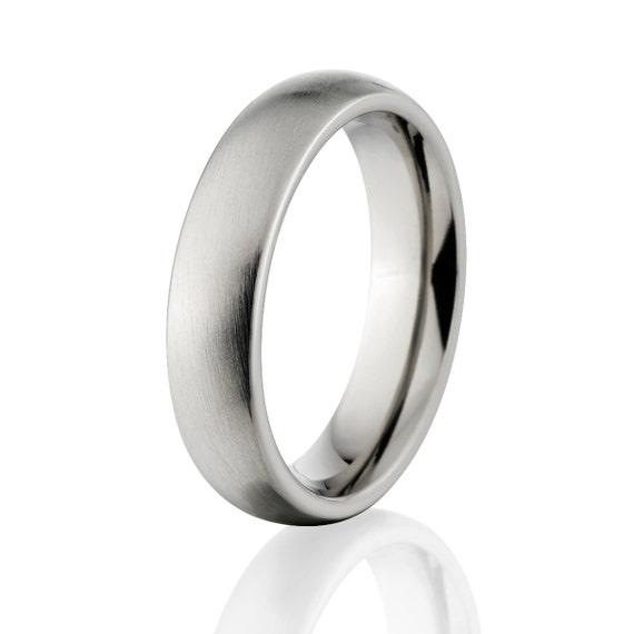 New 6mm Comfort Fit, Custom Titanium Ring USA Made Titanium Wedding Band : 6HR-B