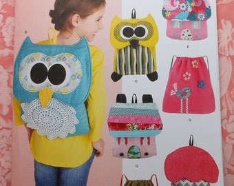 Backpack  Sewing Pattern UNCUT Simplicity 1602 owl