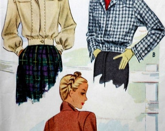 Vintage Jacket Sewing Pattern Simplicity 6360 Size 14