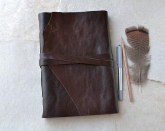 Large Rustic Leather Sketchbook