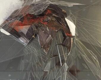 Swan Lake, mixed media, original art, wall art, architectural concept, contemporary art,