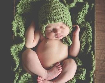 Baby CROCHET PATTERN Blanket BONNET Car Seat Stroller Beginner Build A Star Ripple2