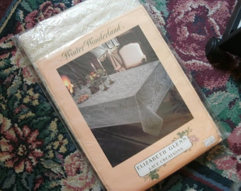 Vintage Lace Table Cloth In The Original Package