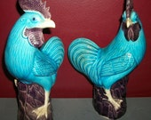 Pair of Bright and Funky Roosters
