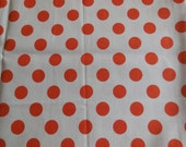 Orange Polka DotsCotton Fabric / Riley Blake Designs Cotton Material / 1/2 yard