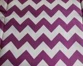 Purple Chevron Cotton Fabric / Riley Blake Designs Cotton Material / 1 yard