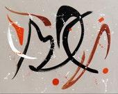 Original, Abstract Painting, Mid Century, Minimalist Painting, Impressionist, Modern Art, Acrylic, Gallery Wrapped, 18x24x1.5, Len Dickson
