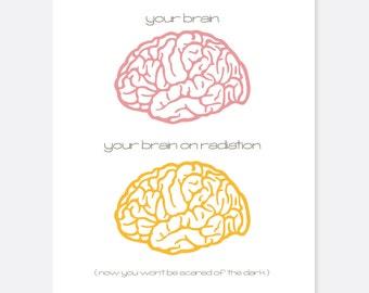 Radiation Brain Cancer Card