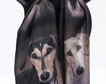 Silk scarf with your photos custom digital print personalized  from Your Pet Photos or Art