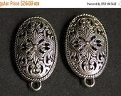 VALENTINE SALE Two (2) Viking Brooches. Silver Apron Pins. Fretwork Turtle Brooch Set. Shoulder Brooches. Norse Jewelry. Historical Renaissa