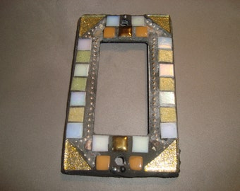 MOSAIC Outlet Cover or Switch Plate, GFI Decora, Wall Plate, Earth Tones, Gold, Beige, White