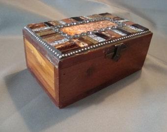 MOSAIC CEDAR BOX, Jewelry Box
