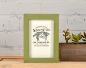 4x6 Picture Frame in Deep Flat Style with Vintage Guacamole Finish - IN STOCK - Same Day Shipping - Handmade 4x6 Photo Frame