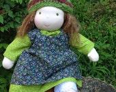 Custom Waldorf Baby Doll Waldorf  inspired Noble Baby Doll 12 - 14 inch