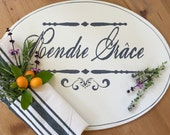 RESERVED for SARAHOval French Farmhouse Paris Chic Placemats Set of 6 Wood Placemats Perfect for Gift Giving  Farmhouse Home Decor