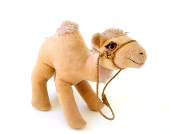 "SALE Rare Vintage 1960s Animal Fair Camel 17"" Plush Toy / Baby Gift Nursery Circus Party Decor Stuffed Animal Retro Toy Collectible Set Prop"