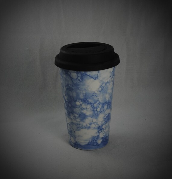 Ceramic Travel Mug Tumbler With A Lid