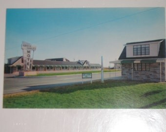 Used Picture Postcard Green Gables Motel Ocean City Maryland Hotel Post Card