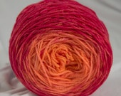 Merino Fingering Yarn, Cush Fingering, Speckled Gradient, Mercurochrome, Hand Dyed