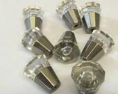 "SALE Set of 8 Petite Knobs 3/4"" Diameter  Drawer Pulls Crafts Vanity Bathroom Desk"