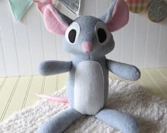 Grey Mouse Plush, Mouse Toy, Stuffed Animal, Mouse, Plush Mouse