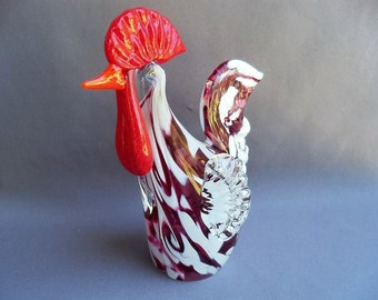Hand Blown Art Glass Rooster