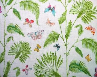 Butterfly Garden Palm Butterflies Ferns Dena Designs Free Spirit Fabric Yard