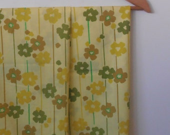 daisy stripes in yellows...pair of vintage pillowcases