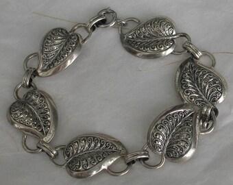Vintage Danecraft Leaf Sterling Bracelet