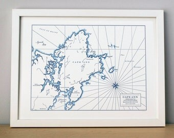 Cape Ann Rockport, Massachusetts, Letterpress Printed