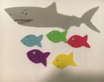 Five Little Fish Swimming in the Sea Flannel/Felt Story