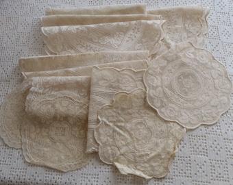 Vintage Lace Doilies 12 Pieces