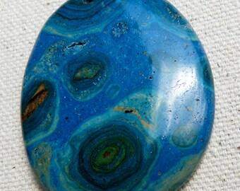 Gemstone Pendant Ghost Eye Jasper Pendant Gemstone Bead Jasper Pendant Jasper Bead Blue Pendant Blue Bead